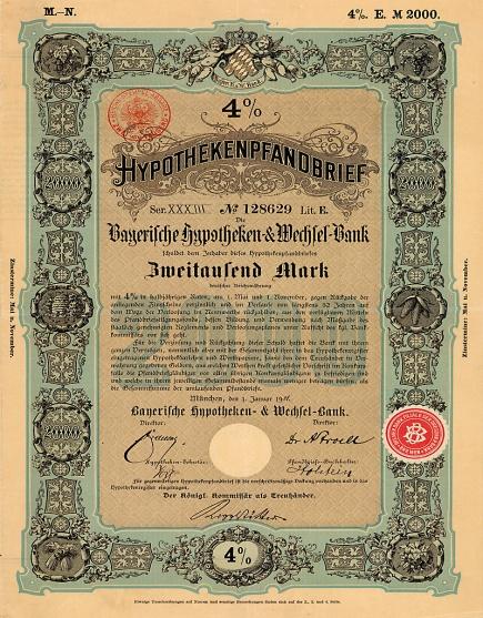 Bayerische_Hypotheken-_und_Wechsel-Bank 2000 Mark, 1901 unb. Autor,Scan von Auktionshaus Vl. Gutowski, gemeinfrei,.jpg