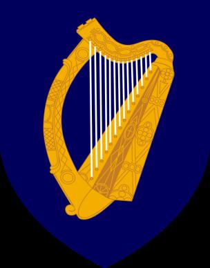 Das Wappen von Irland, Setanta Saki, Gemeinfrei.png