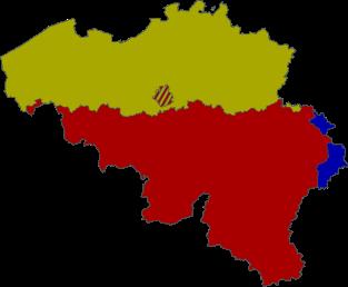 Die drei Sprachgebiete Belgiens, Vascer Knorck, CC BY-Sa 3.0.png
