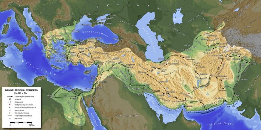 MakedonischesReich von Alexander . CC BY-Sa 3.0.jpg