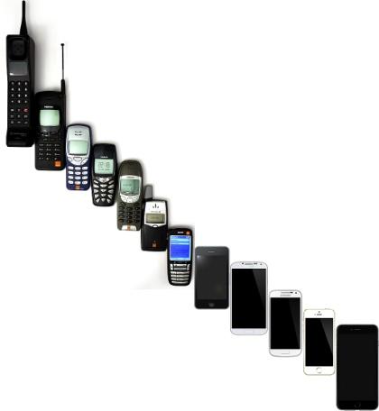 Mobile_Phone_Evolution_1992_-_2014, Jojhnjoy, Gemeinfrei.jpg