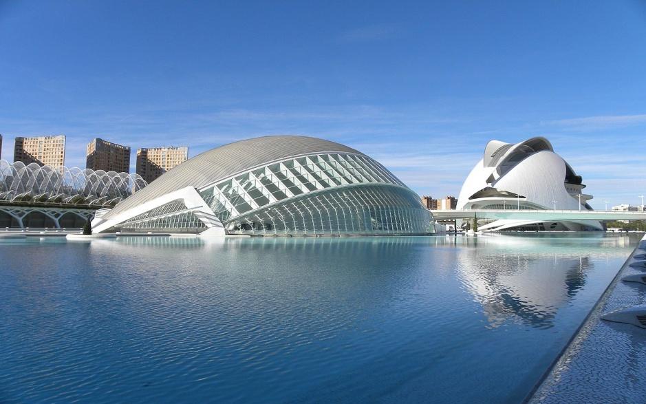 Spanien, _Valencia, IMAX Dome cinema and Palau de les Arts Reina Sofia, Santi Garcia, CC BY-SA 3.0.jpg