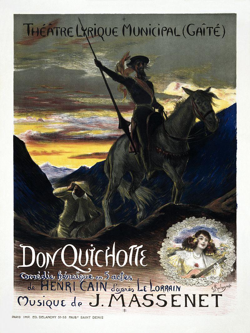 Spanien, Georges_Rochegrosse's_poster_for_Jules_Massenet's_Don_Quichotte, art Adam Cuerden restoration, Gemeinfrei.jpg
