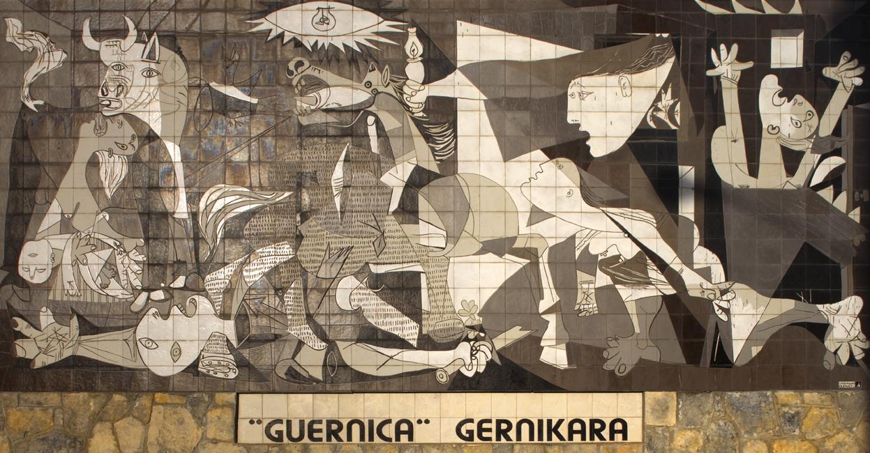 Spanien, Mural_del_Gernika, Nachbildung auf Fliesen in Originalgröße, Gernika-Lumo, CC BY-SA 3.0.jpg